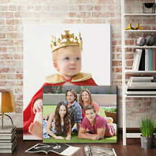"3 x Your Photo Picture on Canvas Print A4 12"" x 8"" Box Framed Ready to Hang"