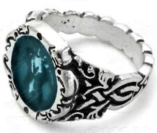 Dragons Celtica Pewter Blue Signet Ring Celtic Dragon Head Alchemy Gothic R86
