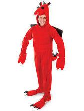 Adult Red Dragon Onesie Style Jumpsuit Wales Welsh St David Fancy Dess Costume