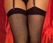 New Fishnet Stockings Seam / Unseam 3 Sizes In Various Colours