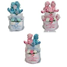 Twins nappy cake boy/girl  baby shower gift maternity present unique pink blue