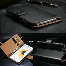 Luxury Genuine Leather Flip Stand Slot Case Cover Wallet For iPhone 6s/6s Plus