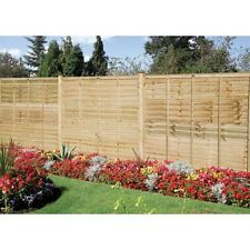 GRANGE 6ft High Wooden Professional Pressure Treated Garden Lap Fence Panel