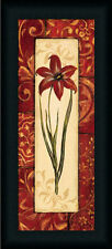 Vintage Crimson I Red Floral Still Life Framed Art Print Wall Décor Picture