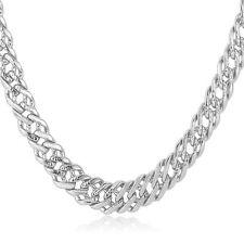 Classic Venitian Chain Necklaces 6MM 18K Rose Gold/Platinum Plated Men Jewelry