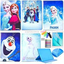 for Samsung tablet Apple iPad PU leather cases cartoon frozen elsa olaf covers