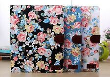 CARD Wallet Flower Floral Magnet Leather Case Cover For Apple Samsung Tab Tablet