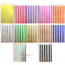"""7"""" x 9"""" Candy  Stripe Paper Bags Sweet Gift Shop Party Birthday Cake Celebration"""