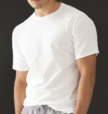 T-Shirt 10x Men's Short Sleeve Fruit of the Loom White Double stitched Cotton