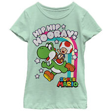 Nintendo Hip Hip Hooray Yoshi and Toad Girls Graphic T Shirt