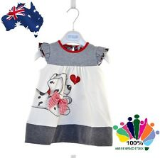 Cute Puppy Dog Love Baby Girl Toddler Summer Cool Sleeveless Cotton Dress Top