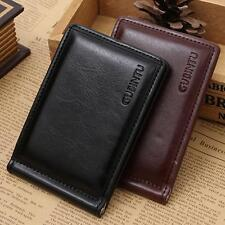 Mini luxury fashion Zipper Leather Credit Card ID Coin Holder Money Clip Wallet