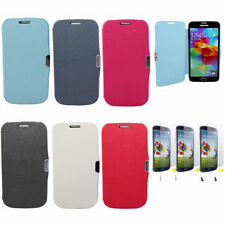 Faux leather Case Flip Case Skin Cover for Samsung galaxy s4 Mini i9190 i9195