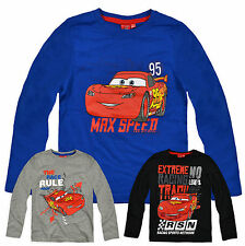 Boys Disney Cars Long Sleeved T Shirt New Kids Lightening McQueen Top 3-8 Years