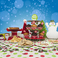Christmas Day Festive Red Polka Dots Party Table Tableware Decoration Listing