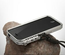 Aluminum Bumper Cases Tactical Edition for iPhone 4 4S 5 5S 6 6s plus Lanyard