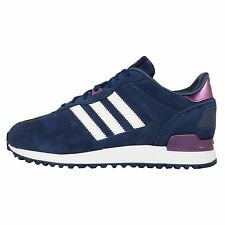 Adidas Originals ZX 700 W Blue Purple Suede Womens Retro Shoes Sneakers B25713