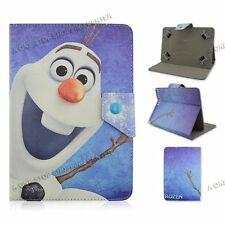 "For Most 9.7"" 10"" 10.1"" Universal PU Leather Case Cover Tablet PC frozen olaf"