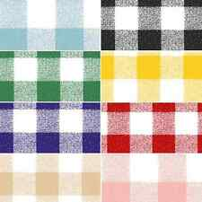 Vinyl PVC Tablecloth Gingham Check Pattern Oilcloth 140cm Wide