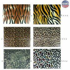 "50"" x 60"" Soft Animal Leopard Tiger Safari Print Fleece Throw Blanket US Stock"