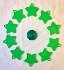 10 Christmas Star Shaped, Balloon Weights & 25m Balloon Curling Ribbons