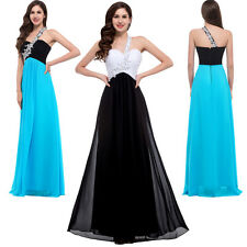 Beaded New Chiffon Bridesmaid Formal Prom Party Evening Cocktail Long Maxi Dress