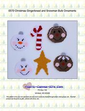 Christmas Snowman and Gingerbread Ornaments-Star-Plastic Canvas Pattern or Kit