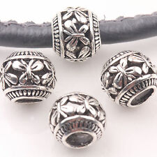 Wholesale 10/20Pcs Tibetan Silver Butterfly Carving Loose Spacer Beads Findings