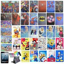 "For iPad mini 3/2/1 7.9"" PU cartoon leather case smart stand covers+film+pen"