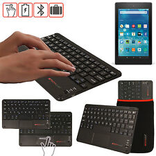 """Slim Wireless Bluetooth UK Keyboard with Touchpad for Amazon Fire HD 8"""" Tablet"""