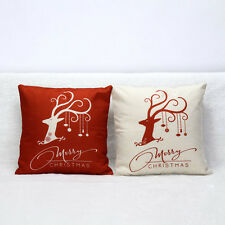 Christmas Deer Sofa Bed Home Decoration Festival Pillow Case Cushion Cover