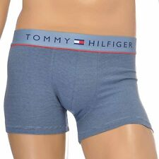 Tommy Hilfiger Underwear Men's Cotton Flex Boxer Brief / Trunk, Faded Denim