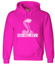 Pink hoodie sweatshirt Shelby cobra men's size sweat-shirt ford hoodie