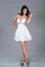 TheDressOutlet Strapless Formal Prom Dress Sweetheart Layered Cocktail Party