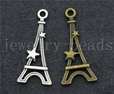 New 10/40/200pcs Antique Silver tower Jewelry Finding Charms Pendant DIY 29x13mm