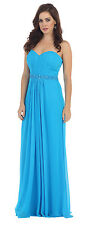 Long Plus Size Strapless Pleated Stretch Formal Evening Special Occasion Dress