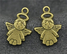 New 10/40/200pcs Antique Bronze Lovely Angel Jewelry Charms Pendant DIY 19x13mm