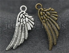 New 10/40/200pcs Antique Silver bird wings Jewelry Charms Pendant DIY 29x11mm