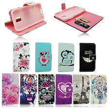 Leather Magnetic Flip Wallet Soft Case Cover For Samsung Galaxy S5 Mini SM G800