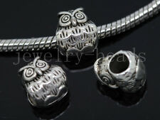 New 8/30/150pcs Antique Silver Bulk Lots big Lovely Owl European Charms Beads