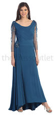TheDressOutlet Mother of the Bride Chiffon Plus Size Formal Evening Long Dress