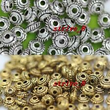 New 40/200/1000pcs Antique Silver Charms Spacer Beads DIY Jewelry Making 5x3mm