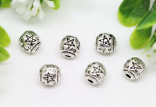 New 30/100/500pcs Antique Silver Exquisite Beads Jewelry Charms Psacer Beads 6mm