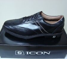 New with Box Footjoy Icon Golf Shoes Black Medium Width #52276, no blemishes