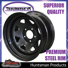 16x8 SUNRAYSIA 5/127 BLACK WHEEL -25 OFFSET Jeep Wrangler