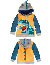 Kids Boys Clothes Animal Hoodies Zipper Casual Top Jacket Tee T-shirt Coat