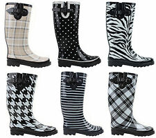 New Women's Rubber Fashion Waterproof Rain Snow Boots Sz 6 - 10