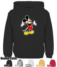 Mens Womens Welcome gesture Cute Disney Mickey Mouse Cotton Sweatshirt Hoodie