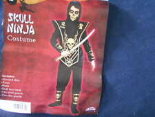 NEW~SKULL NINJA~HALLOWEEN COSTUME~FUN WORLD~Boys Size Small (6)~Medium (8)