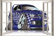 Huge 3D Koolart Window view Alfa Romeo 156 Wall Sticker Poster 2783
